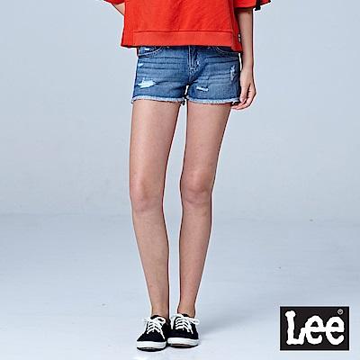 Lee 牛仔短褲-中藍色