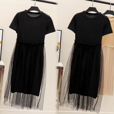 【韓國K.W.】(預購)日式簡約雙層風格洋裝-2色