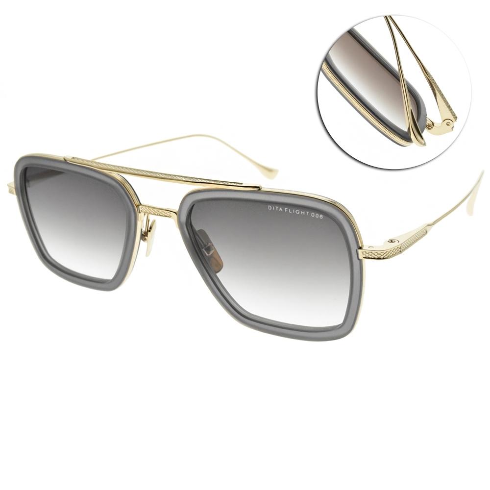 DITA 太陽眼鏡 鋼鐵人飛行框款/透灰金-漸層灰鏡片#FLIGHT 006 7806-H-GRY-GLD