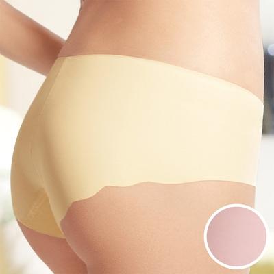 華歌爾-輕柔記形 M-LL中腰平口褲(粉嫩膚)