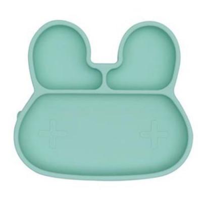 澳洲We Might Be Tiny 矽膠分隔餐盤兔寶寶-薄荷綠
