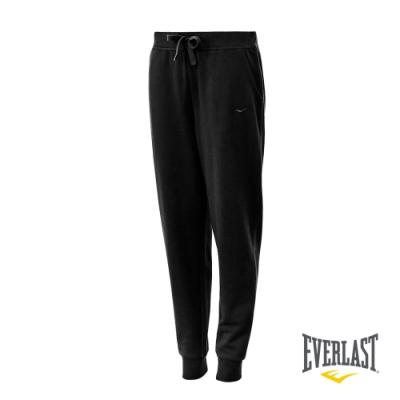 【EVERLAST】女款休閒棉長褲-黑色