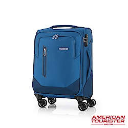 AT美國旅行者 20吋Kirby 可擴充大容量雙輪布面登機箱(藍)