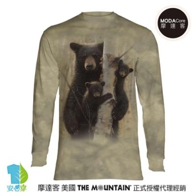 摩達客 美國進口The Mountain 棕熊家族 純棉長袖T恤