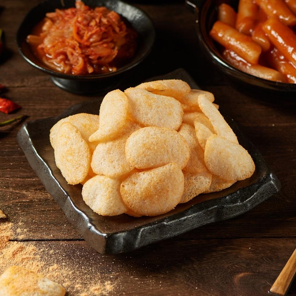 大眼蝦蝦肉餅-韓式泡菜風味100g(大片蝦餅)