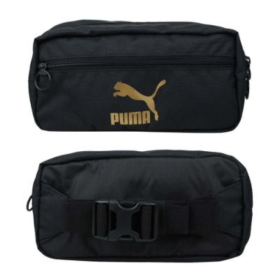 PUMA ORIGINALS 運動腰包-臀包 側背包 慢跑 單車 自行車 07747201 黑金