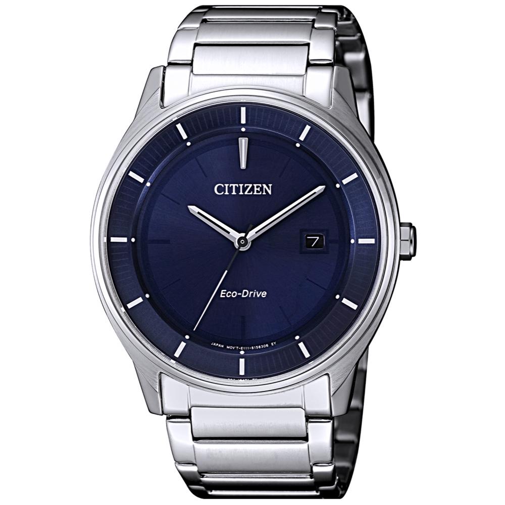 CITIZEN 星辰光動能極簡風尚手錶(BM7400-80L)-藍X銀/40mm
