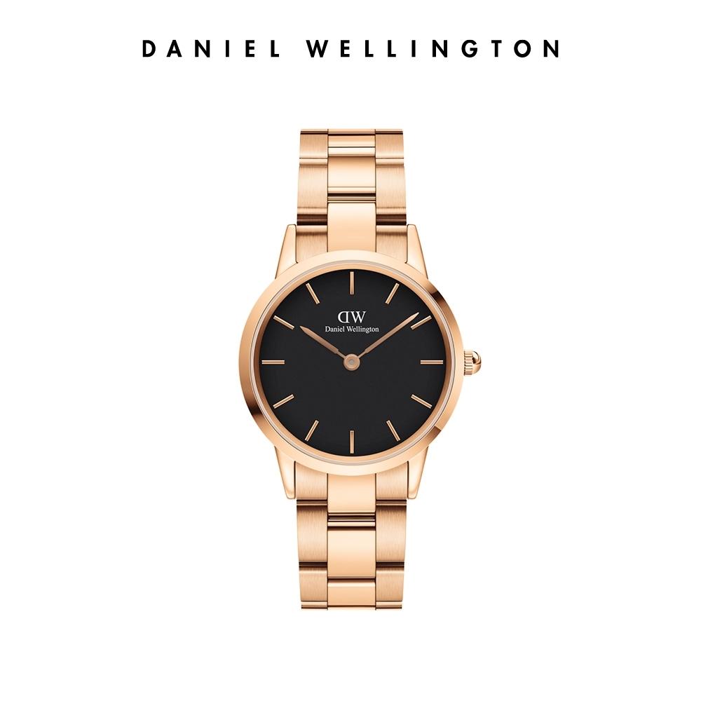 【李聖經配戴款】DW 官方直營 Iconic Link 36mm精鋼錶-特調玫瑰金 DW手錶 男錶