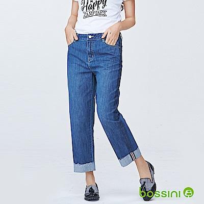 bossini女裝-舒適牛仔9分褲01靛藍