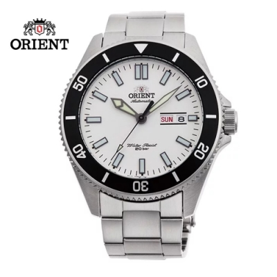 ORIENT 東方錶 WATER RESISTANT系列 200m潛水錶 鋼帶款 白色 RA-AA0918S (限量款) - 44.0mm