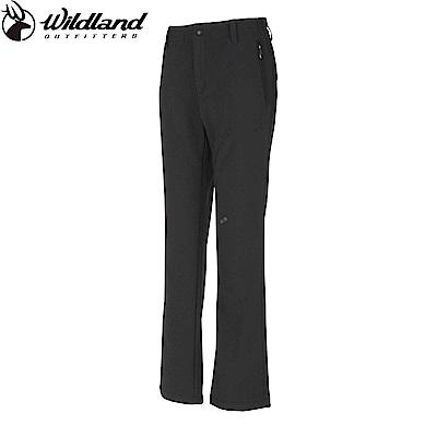 【Wildland 荒野】女SOFTSHELL保暖長褲黑