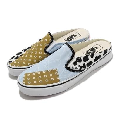 Vans 休閒鞋 Classic Slip On Mule 女 拼接 變形蟲 穆勒鞋 腰果花 乳牛 多色 VN0A4P3U6UX