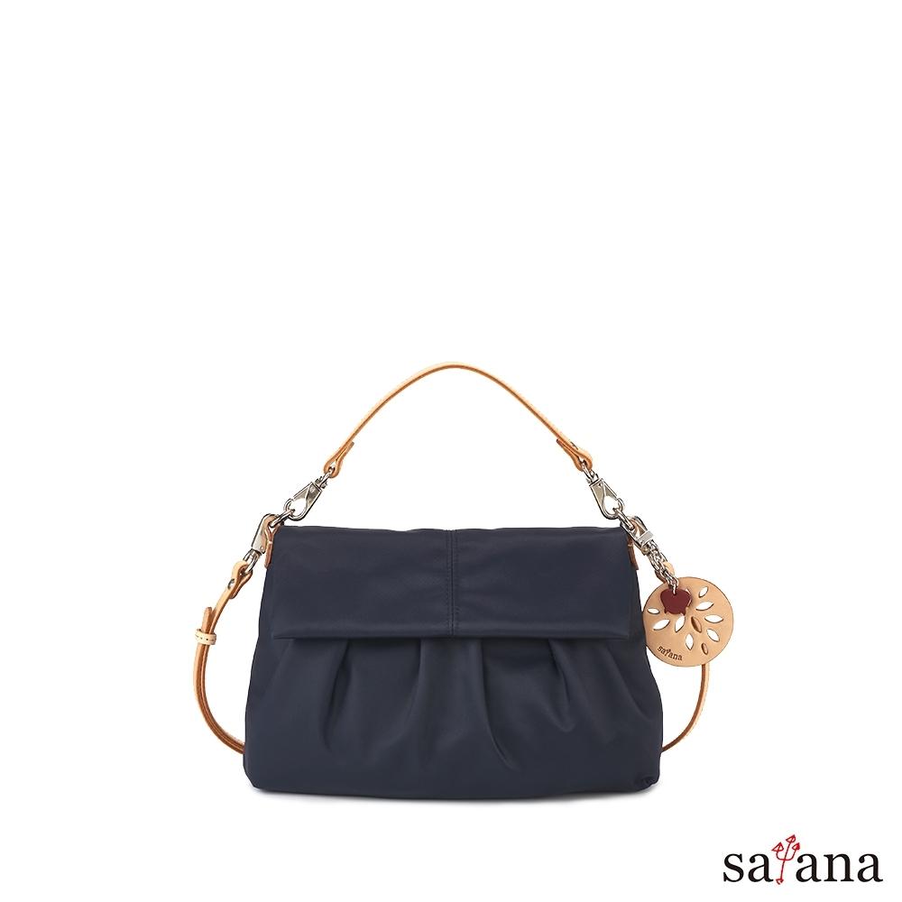 satana - 多變風格掀蓋式 手提/肩背包 - 墨藍色