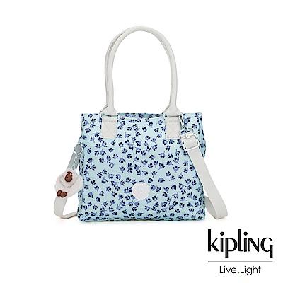 Kipling 典雅淡藍小花肩背側背方包-ESILO