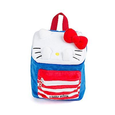 Sanrio HELLO KITTY躲貓貓造型小童用絨毛後背包M(長方)