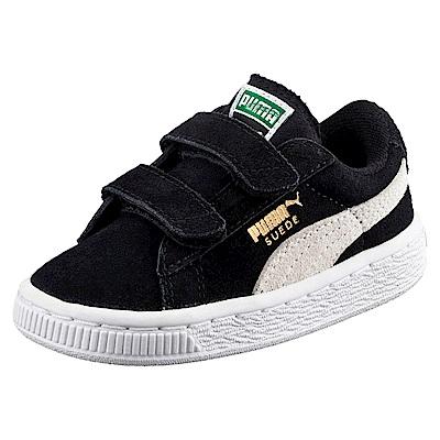 PUMA-Suede 2 straps PS孩童鞋-黑色