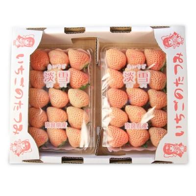 【鮮果日誌】日本空運 稀少品種白色草莓 淡雪(2入裝)