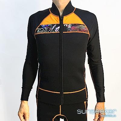 澳洲Sunseeker泳裝大男專業長袖衝浪潛水防寒衣-前拉鍊款