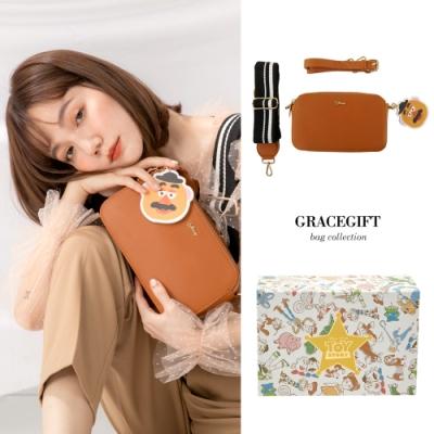 Disney collection by gracegift玩總雙背帶相機包 棕