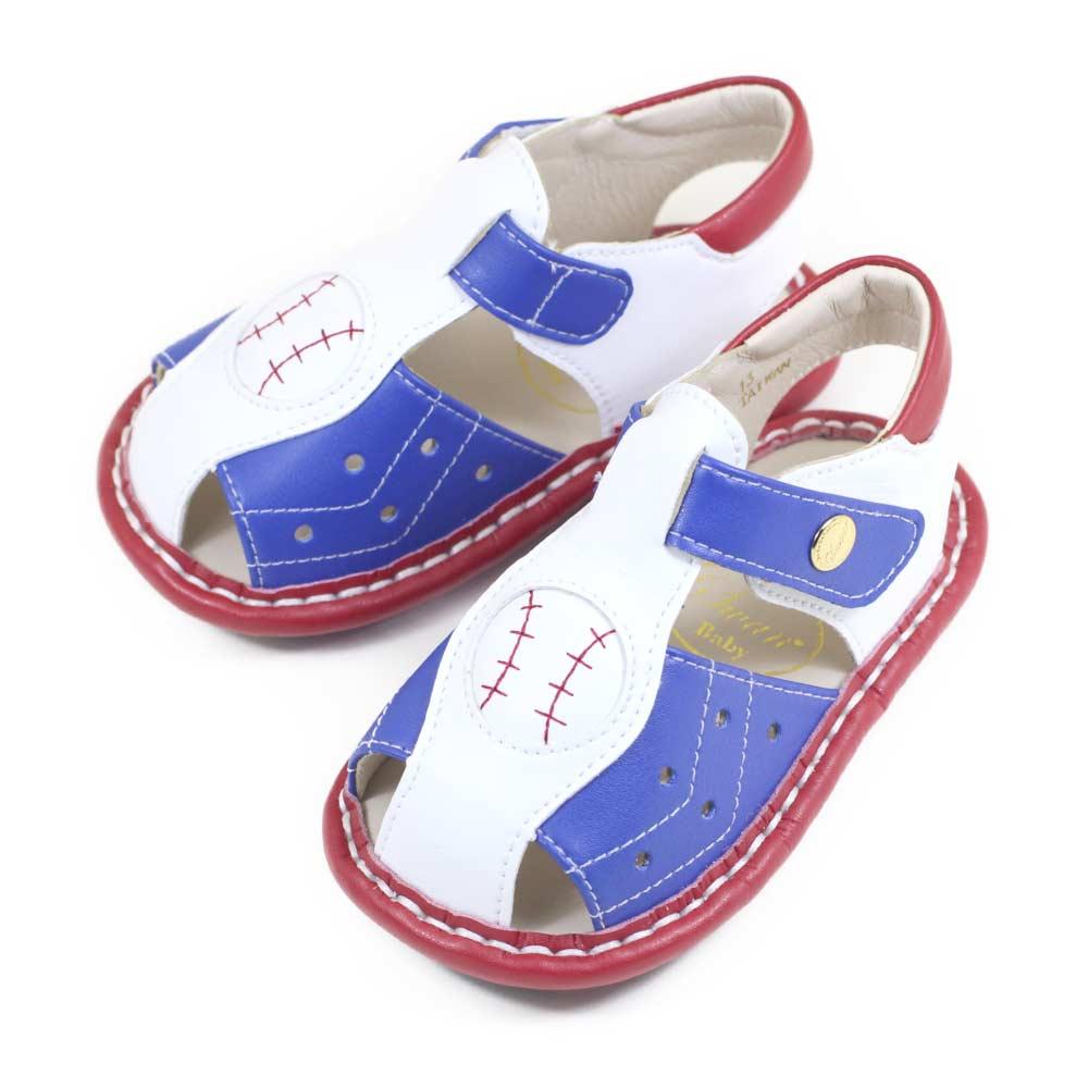 Swan天鵝童鞋-棒球男孩寶寶涼鞋1575-白