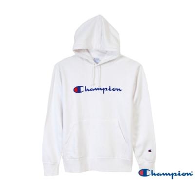 Champion Basic Logo 經典款連帽Tee 白色
