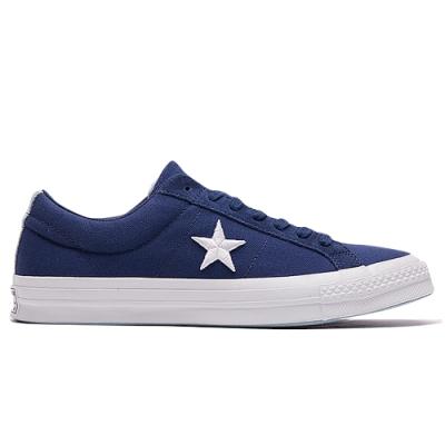 CONVERSE ONE STAR OX 中 休閒鞋 藍 160598C