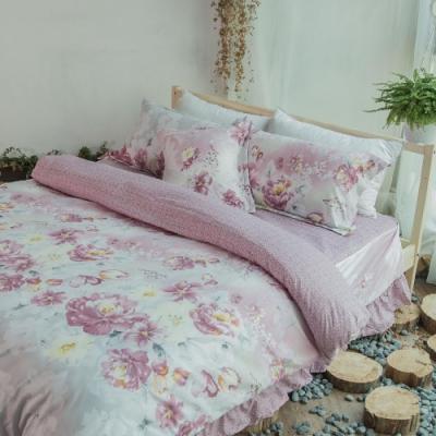 Microban 美國抗菌雙人加大五件式舖棉兩用被床罩組(輕流華姿)