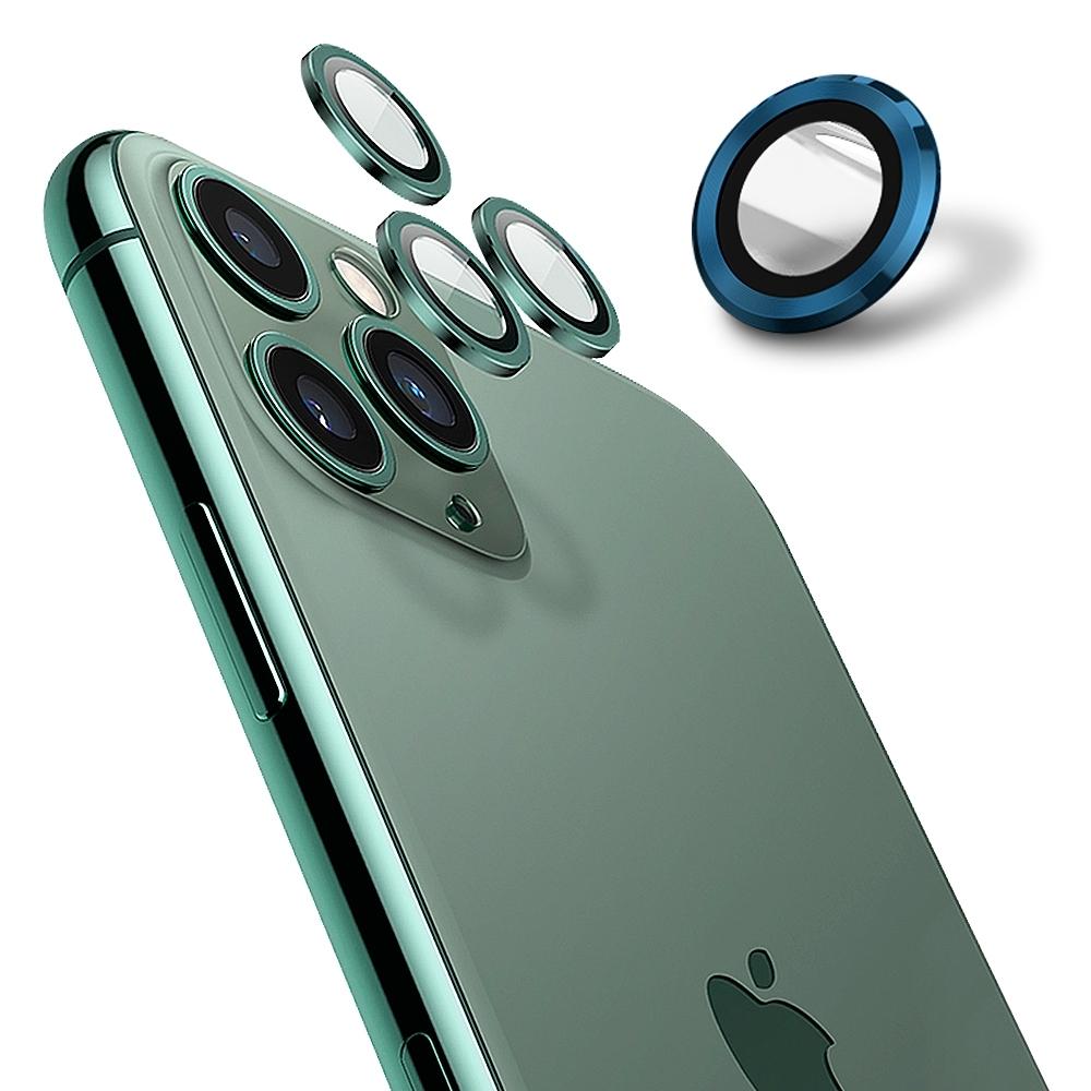 【Ayss】康寧鏡頭保護貼 iPhone 12 mini / iPhone 12/9H硬度/金屬邊框/鏡頭全包覆式/AR光學玻璃/疏水疏油-2入-藍