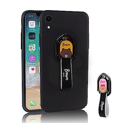 iStyle iPhone XR 6.1吋 熊大熊美指環掛繩手機殼