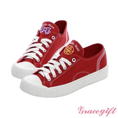 Grace gift-美少女戰士火星帆布餅乾鞋 紅
