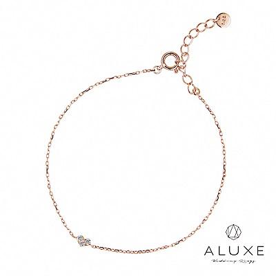 A-LUXE 亞立詩 Shine10K金 甜蜜心情鑽石手鍊