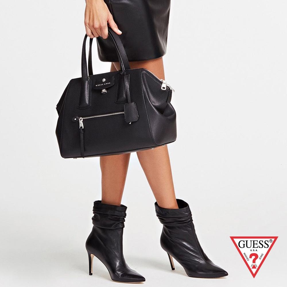 GUESS-女包-簡約時尚大手提包-黑