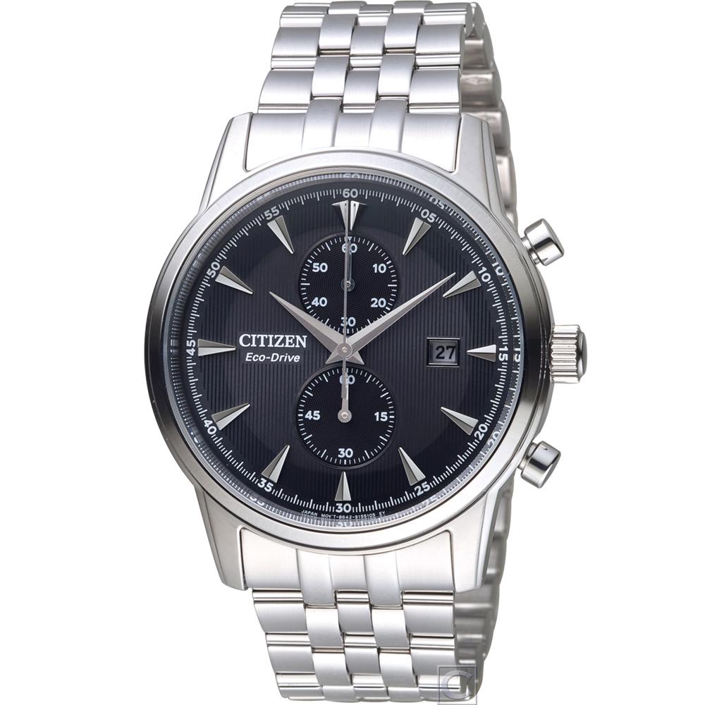 CITIZEN Eco-Drive 都會雅痞時尚腕錶(CA7001-87E)黑/43mm