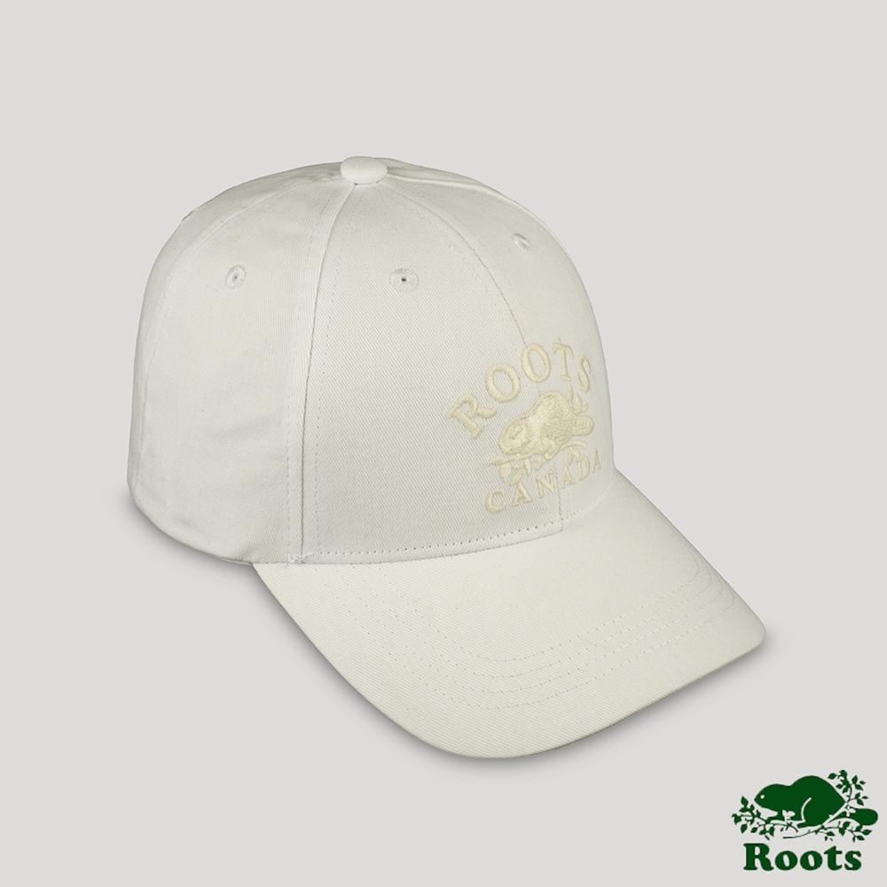 Roots配件- 摩登週間系列 經典元素棒球帽-白色