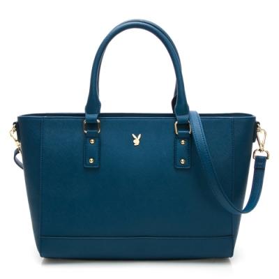 PLAYBOY-  手提包附長背帶 仲夏之戀系列 -藍色