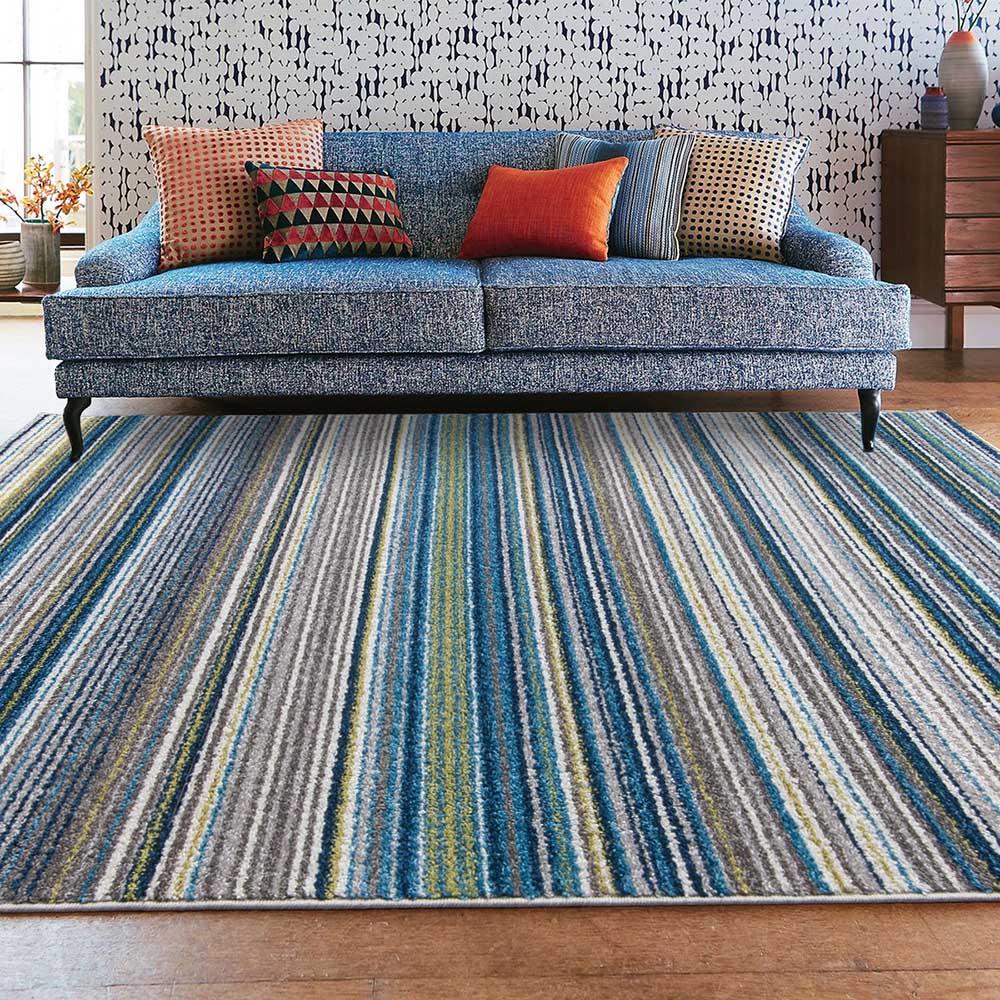 Ambience 比利時Nomad現代地毯-馬雅 藍135x190cm