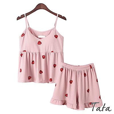 兩件式吊帶上衣加鬆緊腰短褲 共二色 TATA