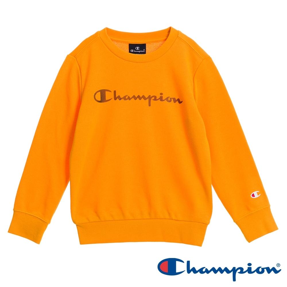 Champion EU童草寫Logo大學Tee 橘黃色