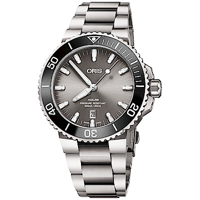 (無卡分期18期)Oris豪利時 Aquis 時間之海鈦合金潛水300米日期機械錶