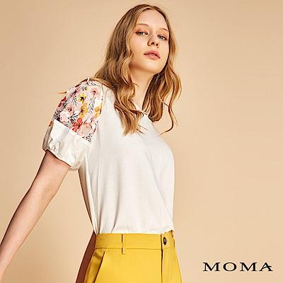 MOMA 素面拼接立體雕花上衣
