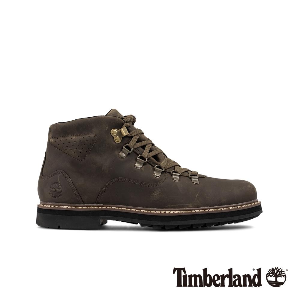 Timberland 男款橄欖色全粒面登山靴|A2988