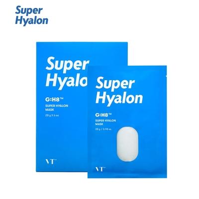 韓國 VT Super Hyalon 超級玻尿酸 補水面膜-6入