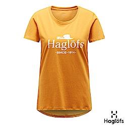 Haglofs 女 Mirth 100%有機棉TEE 沙漠黃