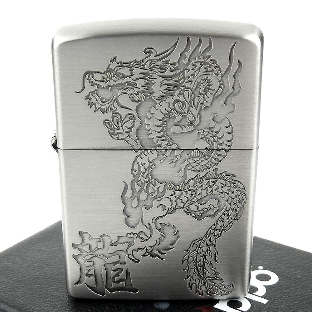 ZIPPO 日系~Dragon-龍紋蝕刻圖案加工打火機