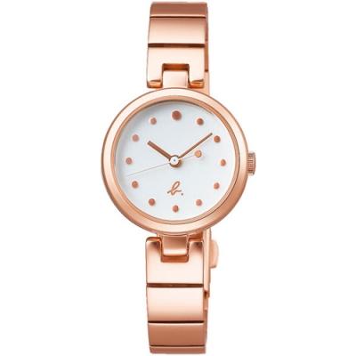 agnes b. 法式簡約時尚手錶(BH8059X1)-玫瑰金/25mm