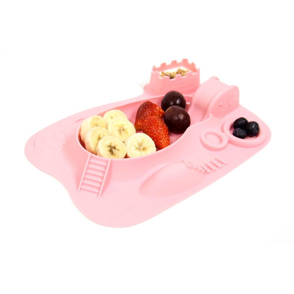 【MARCUS&MARCUS】動物樂園遊樂造型餐盤-粉紅豬(粉)