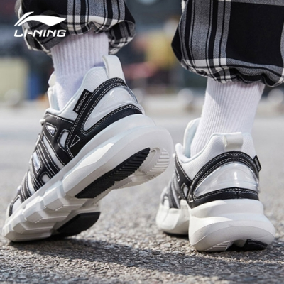 LI-NING 李寧 20悟道Infinite 時尚潮流休閒鞋-女 乳白色標黑 (AGBQ036-2)