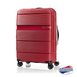 AT美國旅行者 28吋 Linex防刮耐衝擊硬殼TSA行李箱(紅)
