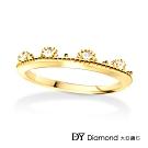 DY Diamond 大亞鑽石 L.Y.A輕珠寶 18黃K金 永恆 鑽石線戒