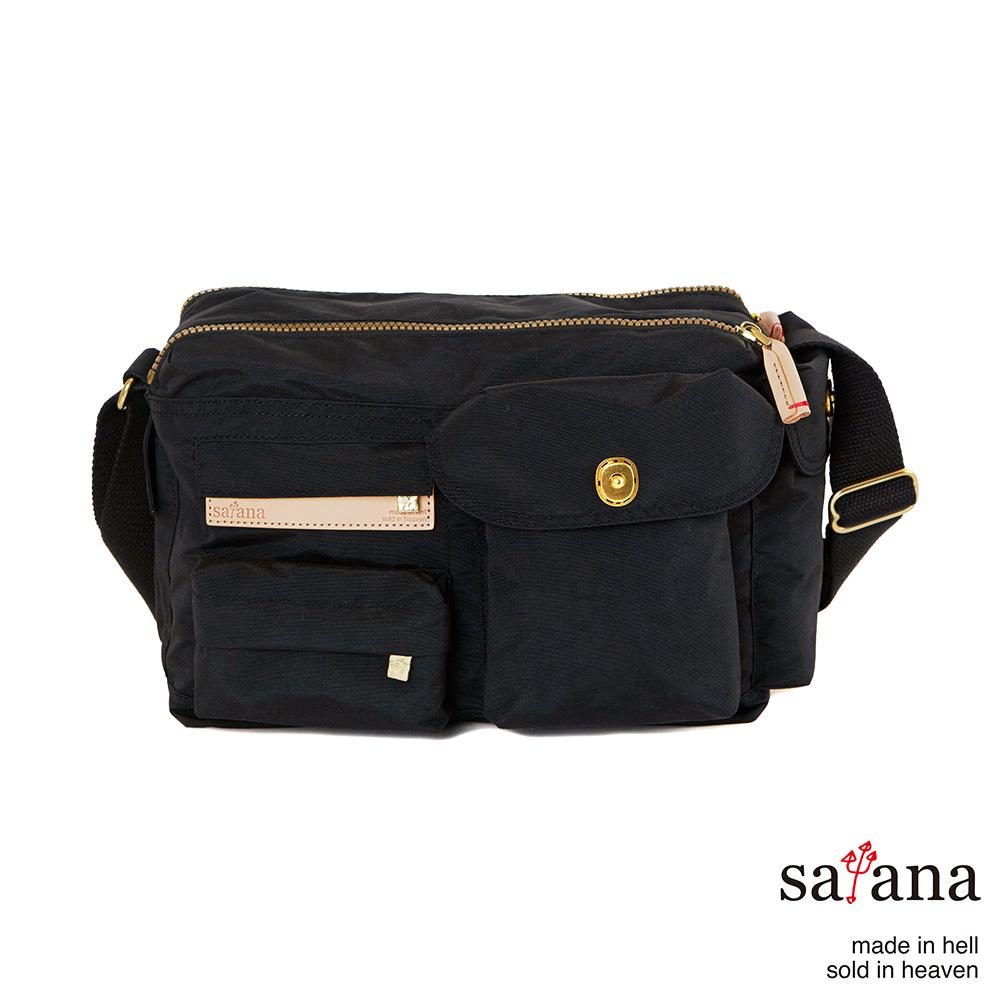 satana - 簡單生活斜肩包 - 黑色